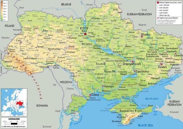 Карта Украины с Крымом