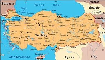 Политическая карта Турции