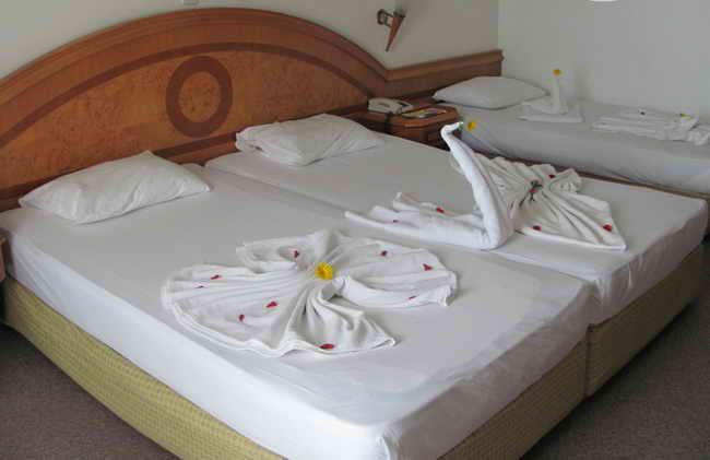 Отель Rubi Hotel 5* (Руби 5) в Алании. кровати