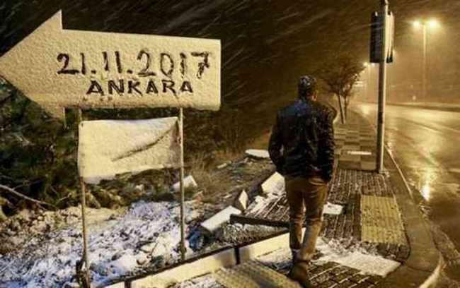 Снег в Анкаре